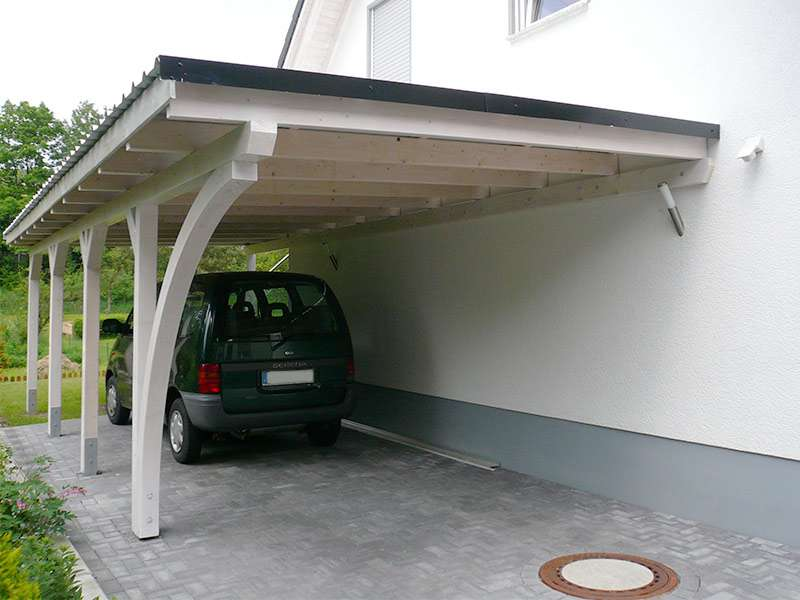 carport flachdach modernes haus. Black Bedroom Furniture Sets. Home Design Ideas