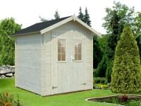 Gartenhaus Oulu 19, WW-151, 192x192cm x 19mm, Doppeltür m. Lichausschnitt, inkl. Fußboden