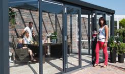 Alu-Gartenzimmer mit Doppeltür
