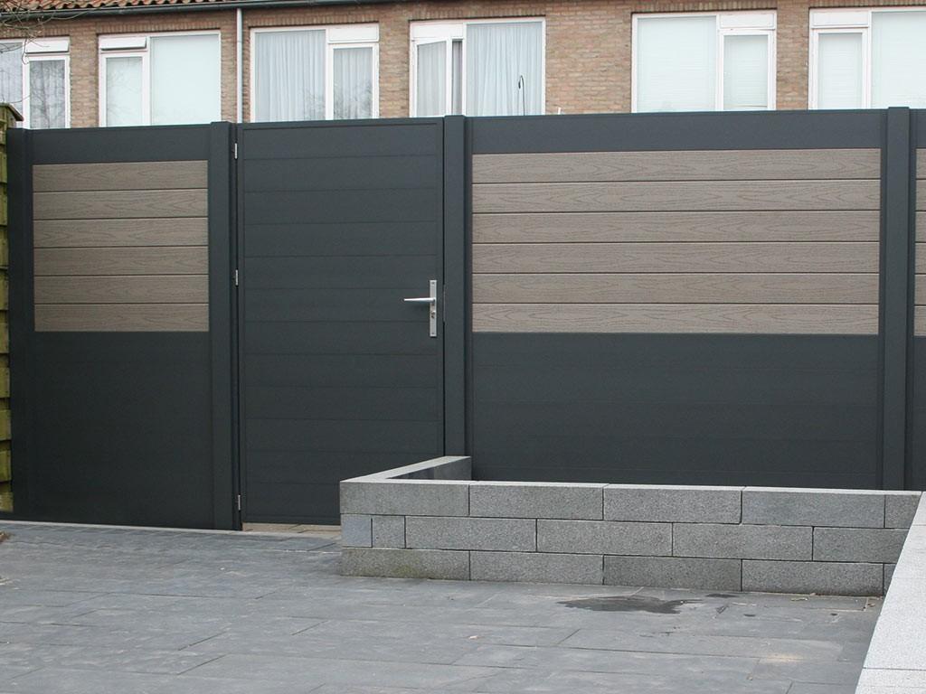 Aluminium Tür 100 x 180 cm für Zaunelemente inkl Drückergarnitur