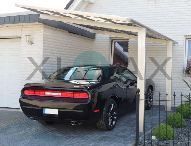 495 x 273 cm, Alu Design-Carport Linea, XIMAX Typ 80 Standard ...
