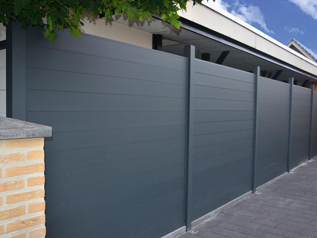 Alu Pfosten 275 x 9 x 9 cm für Aluminium Zaun Farbe wahlweise