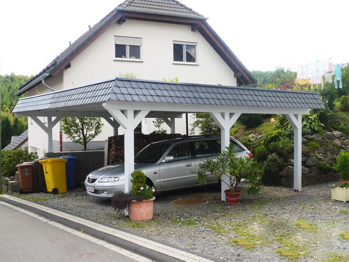 4 00 m x 7 00 m leimholz carport newcw 4070 mit. Black Bedroom Furniture Sets. Home Design Ideas