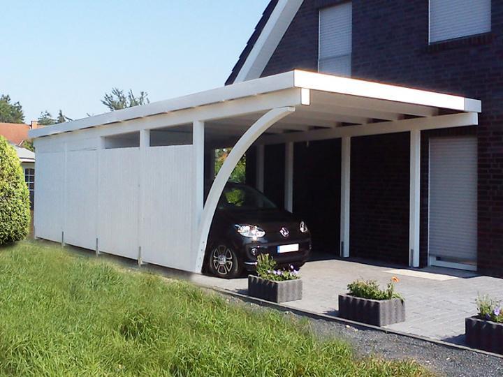 3 50 m x 8 00 m leimholz carport newc 3580 flachdach for Carport bedachung