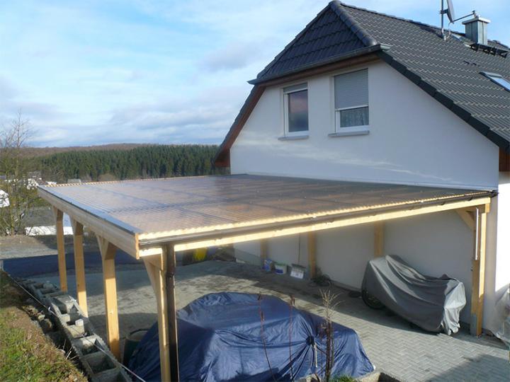 6 50 m x 6 00 m leimholz carport newc 6560 flachdach. Black Bedroom Furniture Sets. Home Design Ideas